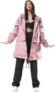 Różowa kurtka REST FACTORY z tkaniny w stylu casual