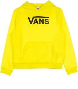 Żółta bluza Vans z bawełny w młodzieżowym stylu