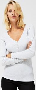 Bluzka Moodo w stylu casual z długim rękawem z bawełny