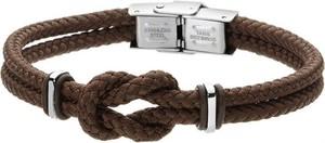 Manoki Minimalistyczna bransoletka męska z brązowego sznurka