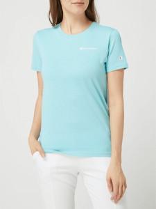 Niebieska bluzka Champion z bawełny z okrągłym dekoltem