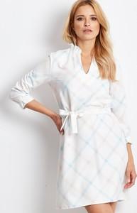 Sukienka Sheandher.pl w stylu casual z dekoltem w kształcie litery v z długim rękawem