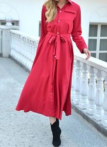 Sukienka Cikelly w stylu casual z długim rękawem koszulowa