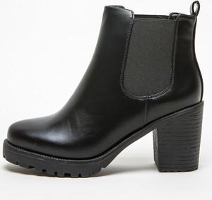 Czarne botki Yups na platformie