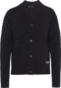 Czarny sweter Prada w stylu casual z wełny