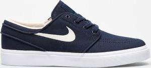 Niebieskie trampki Nike niskie stefan janoski z płaską podeszwą