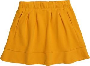 Żółta spódniczka dziewczęca Kids Only z bawełny