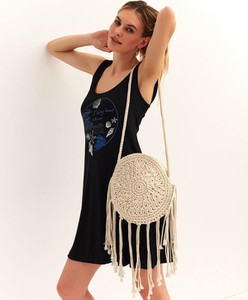 Sukienka Top Secret mini na ramiączkach z okrągłym dekoltem