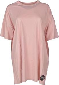 Różowa sukienka Colmar oversize z dżerseju