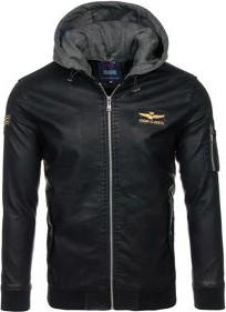 Czarna kurtka denley z dresówki w stylu casual