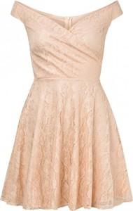 Sukienka Sistaglam bez rękawów z odkrytymi ramionami z dekoltem w kształcie litery v