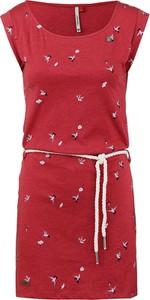 Czerwona sukienka Ragwear bez rękawów w stylu casual z bawełny