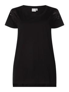 Czarna bluzka Junarose z okrągłym dekoltem