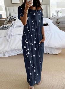 Granatowa sukienka Arilook z dekoltem w kształcie litery v