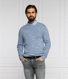 Sweter Tommy Jeans w stylu casual z wełny z okrągłym dekoltem