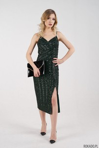 Sukienka Rokado z dekoltem w kształcie litery v na ramiączkach