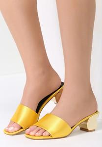 Żółte klapki Renee