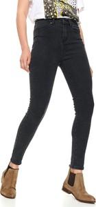 Czarne jeansy Top Secret w stylu casual z jeansu