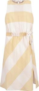 Sukienka BOSS Casual z okrągłym dekoltem w stylu casual midi