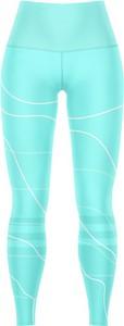 Niebieskie legginsy Vision Wear Sport w sportowym stylu w geometryczne wzory