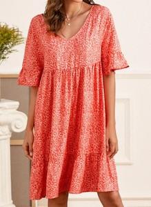 Sukienka Cikelly z długim rękawem prosta mini
