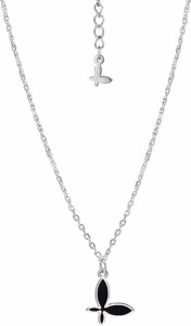 SADVA Naszyjnik srebrny z emaliowanym motylem