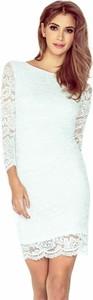 Sukienka Moda Dla Ciebie z długim rękawem z okrągłym dekoltem midi