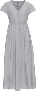 Sukienka bonprix RAINBOW z dekoltem w kształcie litery v bez rękawów rozkloszowana