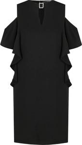 Czarna sukienka Guess Jeans prosta