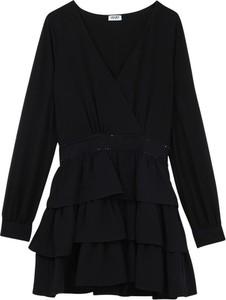 Czarna sukienka Liu-Jo z długim rękawem mini