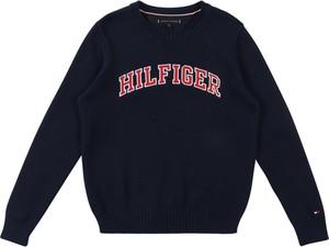 Granatowy sweter Tommy Hilfiger z dzianiny