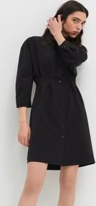 Czarna sukienka House koszulowa