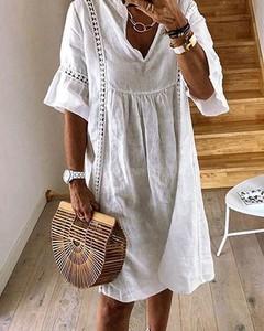 Sukienka Kendallme z długim rękawem w stylu boho midi