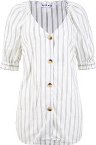 Bluzka bonprix bpc bonprix collection z dekoltem w kształcie litery v w stylu casual