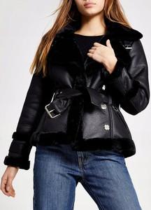 Czarny płaszcz River Island w stylu casual