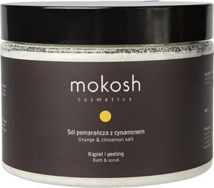 Mokosh, Salt, Bath & Scrub, Orange & Cinnamon, sól do kąpieli, Pomarańcza z Cynamonem, 600g