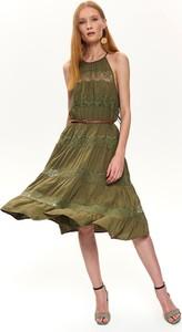 Sukienka Top Secret z okrągłym dekoltem midi