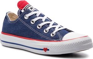 Niebieskie trampki Converse all star w street stylu niskie