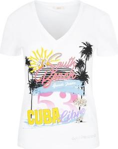 T-shirt Gaudi z jeansu