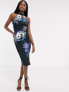 Sukienka Lipsy z dekoltem halter bez rękawów