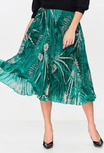 Niebieska spódnica Tatuum w stylu casual midi z tkaniny
