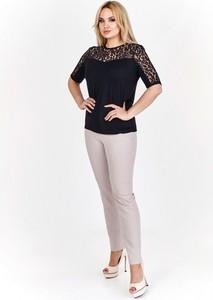 Bluzka Halina w stylu casual z krótkim rękawem