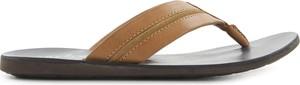 Brązowe buty letnie męskie Tresor ze skóry