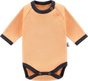 Pomarańczowe body niemowlęce Tuszyte dla dziewczynek