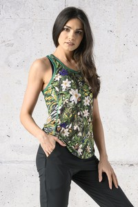 Top Nessi Sportswear z okrągłym dekoltem w sportowym stylu