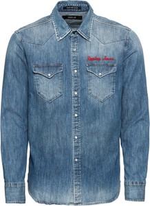 Koszula Replay z klasycznym kołnierzykiem z jeansu w stylu casual