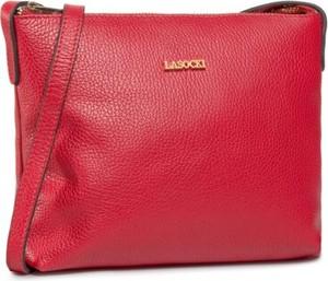 Czerwona torebka Lasocki średnia