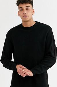 Czarny sweter Asos z tkaniny
