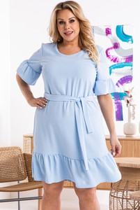 Niebieska sukienka KARKO oversize mini