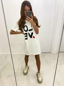 Sukienka Infinityfashion.pl z bawełny mini z długim rękawem